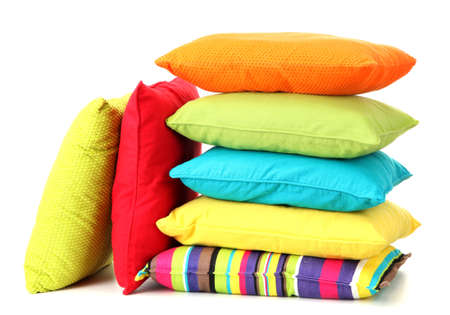 pillow: Colorful pillows isolated on white
