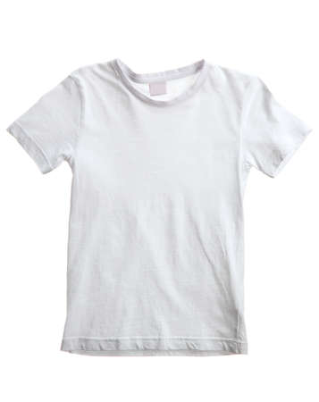 kid white t-shirt isolated on white photo