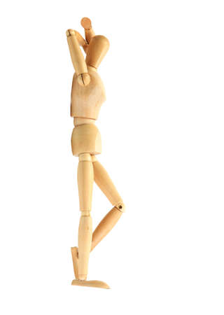 wooden mannequin isolated on white Stock Photo - 15018116