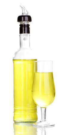 martini shaker: Tasty yellow cocktail isolated on white Stock Photo