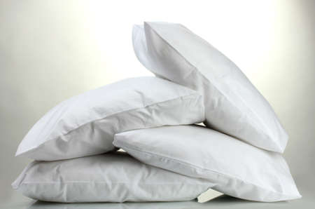 pillows, on grey background photo