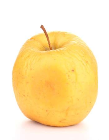 scarring: Mela gialla come concetto di problema di pelle isolato su bianco