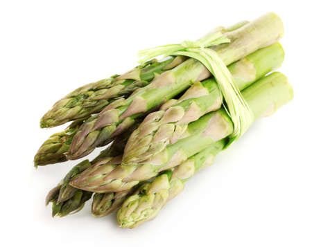 nutritiously: Useful asparagus isolated on white Stock Photo