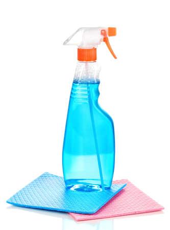 cellulose: Esponjas de celulosa y spray aislados en blanco