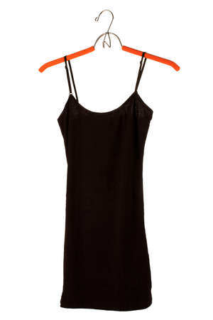 woman's black top on a hanger isolated on white Stock Photo - 15505431