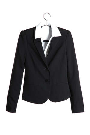 Womens black classic jacket photo