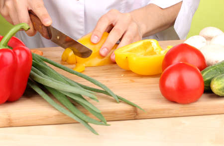 Chopping food ingredients photo