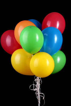 Colorful balloons isolated on black Stock Photo - 15410906