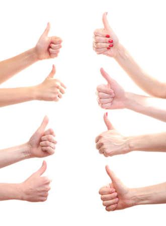 confianza: grupo de manos de los j�venes aislados en blanco
