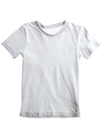 tela algodon: kid camiseta blanca aislada en blanco