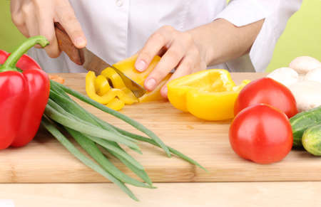 Chopping food ingredients Stock Photo - 15414353