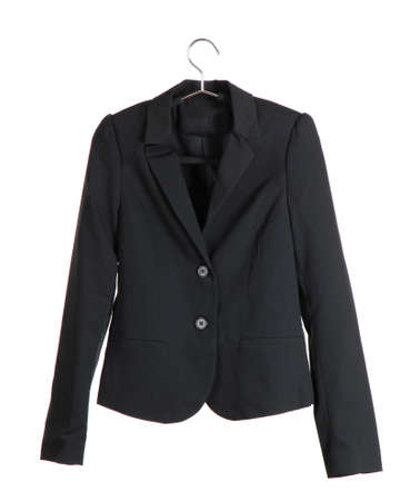 coat hangers: Womens black classic jacket