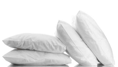 흰색에 고립 베개