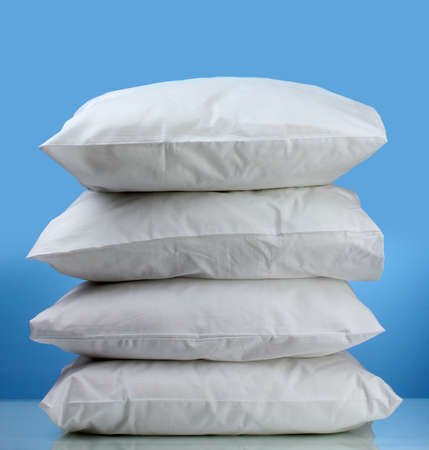 pillows, on blue background photo