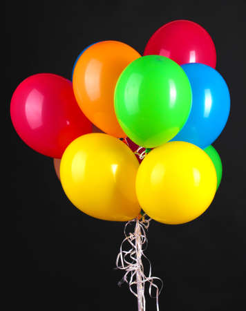 Colorful balloons isolated on black Stock Photo - 15601053