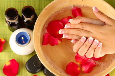 spa treatments for female hands,  close-up photo