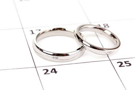 Wedding rings isolated on white Stock Photo - 15614005