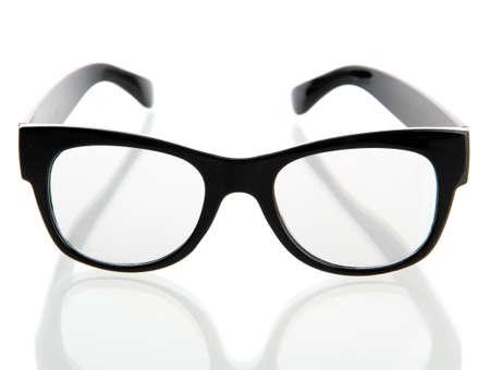 black glasses, isolated on white