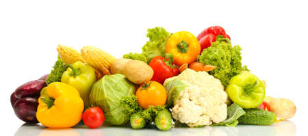 Fresh vegetables isolated on white Stock Photo - 15737843