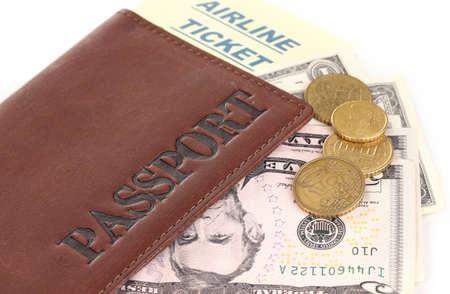 Passport and ticket close-up Stock Photo - 15758731