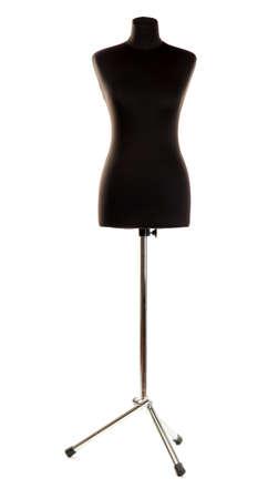 mannequin: vide mannequin noir isol� sur fond blanc