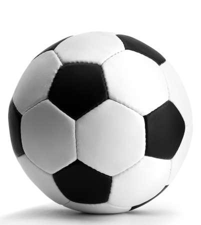 ballon foot: Ballon de football, isol� sur blanc Banque d'images