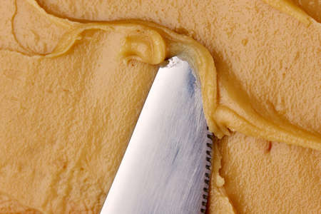 Delicious peanut butter close-up background Stock Photo - 15852287