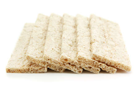 tasty crispbread, isolated on white photo