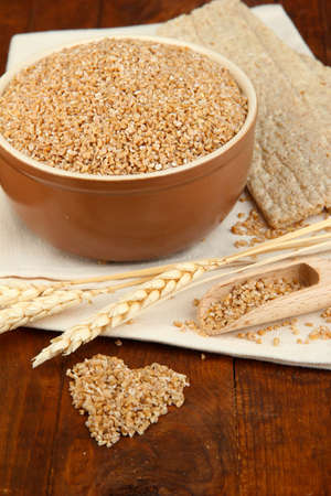 Wheat bran on the table Stock Photo - 15963010