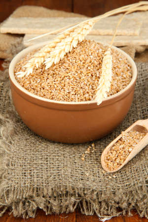 Wheat bran on the table Stock Photo - 15964959