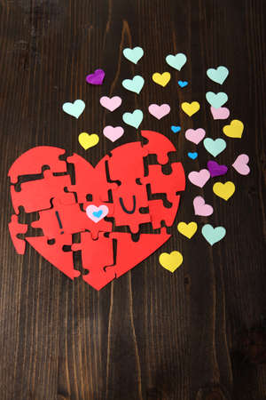 reciprocity: Puzzles in form of heart with words I