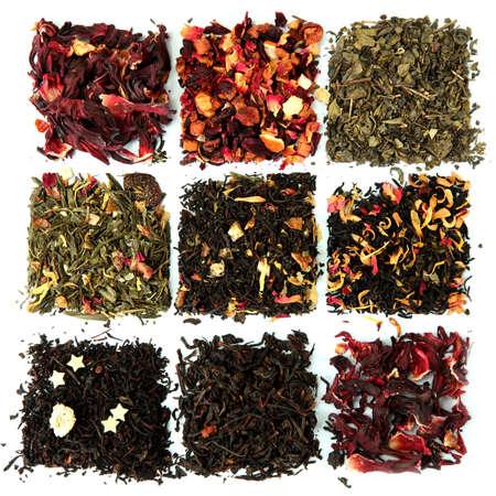 frutas secas: surtido de t� seco, aislado en blanco