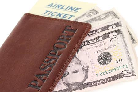 Passport and ticket close-up Stock Photo - 16108001
