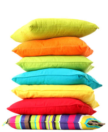 Colorful pillows isolated on white Stock Photo - 16107681