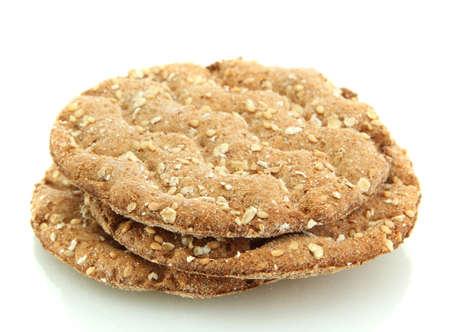 galettes: tasty crispbread isolated on white