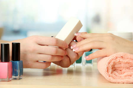 Manicure process in beauty salon, close up Stock Photo - 16107605