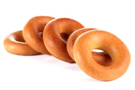 baranka: tasty bagels, isolated on white
