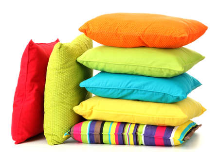 Colorful pillows isolated on white Stock Photo - 16132430