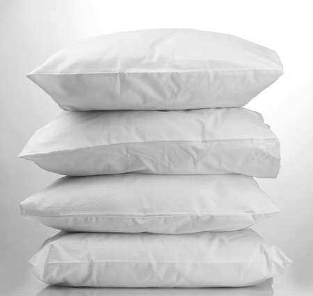 pillows, on grey background Stock Photo - 16218543