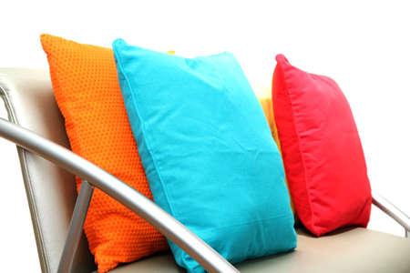 Kussen Wit 16 : Kleurrijke kussens op wit wordt geïsoleerd royalty vrije foto