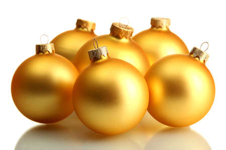 beautiful christmas balls, isolated on white Stock Photo - 16192520