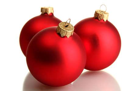 beautiful christmas balls, isolated on white Stock Photo - 16192519