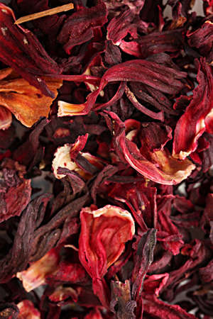 aromatic Hibiscus tea, close up photo