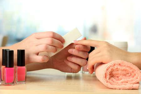 Manicure process in beauty salon, close up Stock Photo - 16317859