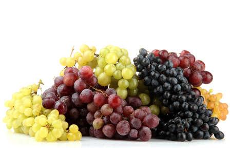 assortimento di dolci ottenuti da uve isolato su bianco Archivio Fotografico