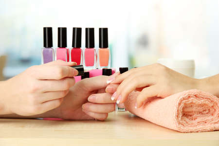 Manicure process in beauty salon, close up Stock Photo - 16344207