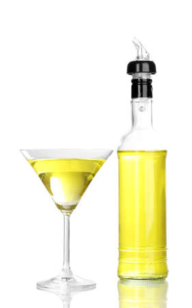Tasty yellow cocktail isolated on white Stock Photo - 16343534