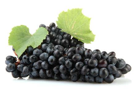 uvas: maduras uvas dulces aislados en blanco Foto de archivo