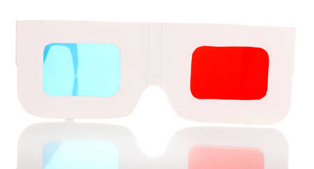anaglyph: stereo glasses isolated on white