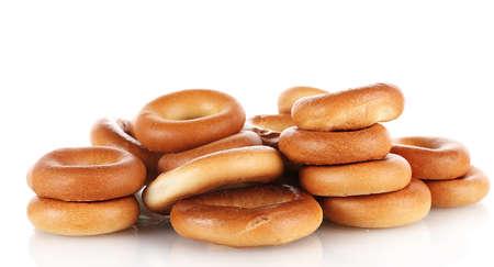 boublik: tasty bagels, isolated on white